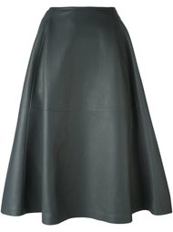кожаная юбка Jil Sander
