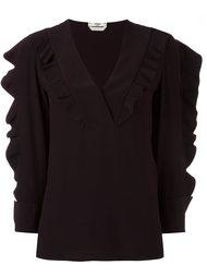 блузка с рюшами Fendi