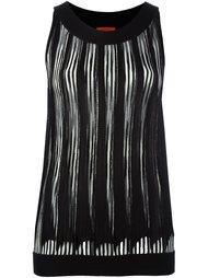 плиссированная блузка без рукавов Missoni