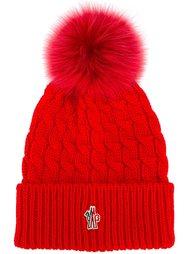 шапка вязки косичкой Moncler Grenoble