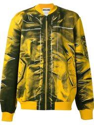 куртка-бомбер с эффектом тромплей Moschino