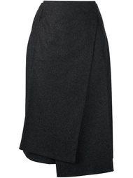 асимметричная юбка с запахом Jil Sander