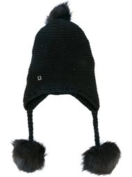 вязаная шапка с помпонами  Twin-Set