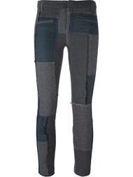 лоскутные брюки скинни Haider Ackermann
