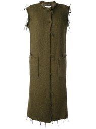 пальто с необработанными краями   Maison Margiela