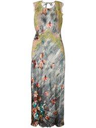вечернее платье с цветочным принтом Alberta Ferretti