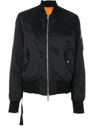 куртка-бомбер на молнии  Unravel