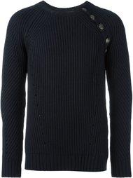 свитер с рубчик с отделкой пуговицами Pierre Balmain