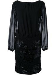 полупрозрачное платье с пайетками Steffen Schraut