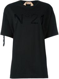 футболка с логотипом и стразами Nº21