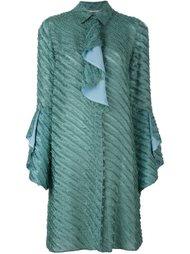 фактурное платье-рубашка Marco De Vincenzo