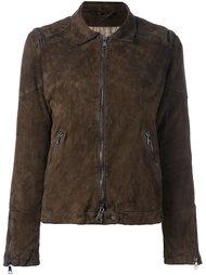 байкерская куртка с эффектом потертости Giorgio Brato