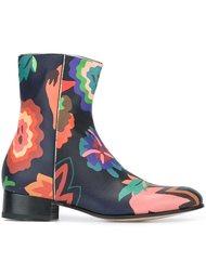 ботинки с цветочным принтом   Paul Smith