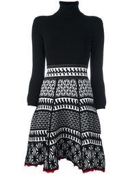 трикотажное платье со сборкой Dsquared2