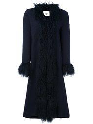 пальто с отделкой из овчины Dondup