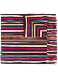 шарф в полоску с бахромой Missoni