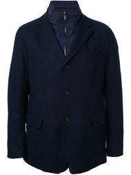 однобортная куртка в стиле милитари Lardini