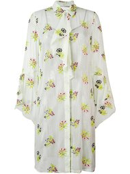 платье-рубашка с цветочным принтом Marco De Vincenzo