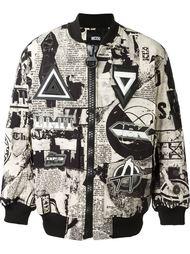 куртка-бомбер с абстрактным принтом  KTZ