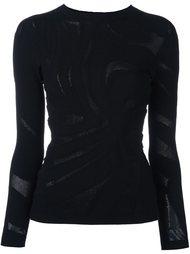 джемпер с прозрачными панелями Versace