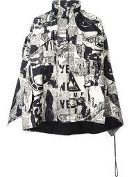 куртка с газетным принтом KTZ