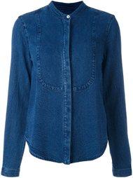 рубашка без воротника с джинсовым эффектом YMC