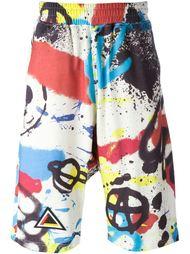 шорты с принтом граффити KTZ