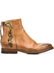ботинки по щиколотку с вышивкой Sartori Gold