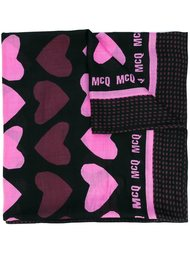 шарф с принтом сердец McQ Alexander McQueen