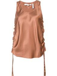 блузка с U-образным вырезом Helmut Lang