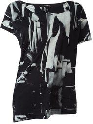 футболка с абстрактным принтом Ann Demeulemeester