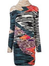 трикотажное платье с узором Missoni