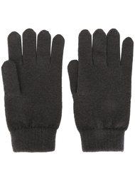 перчатки ребристой вязки N.Peal
