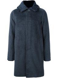 пальто с застежкой на пуговицы с капюшоном Emporio Armani