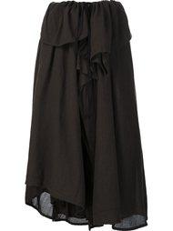 асимметричная юбка с запахом Y's