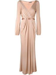 вечернее платье с V-образным вырезом Alexander McQueen