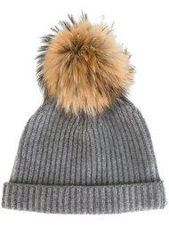 шапка-бини с помпоном  N.Peal