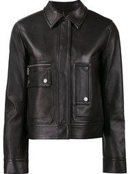 укороченная куртка с потайной застежкой Helmut Lang