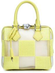 'Speedy' optic mesh cube tote Louis Vuitton Vintage