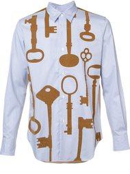 рубашка с принтом ключей Junya Watanabe Comme Des Garçons Man
