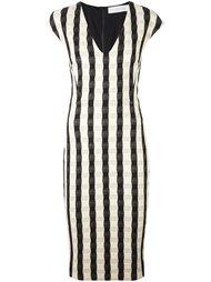 платье-футляр в клетку Victoria Beckham
