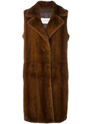 пальто из меха норки без рукавов Yves Salomon