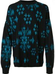 свитер с абстрактным принтом Baja East