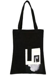 сумка-тоут с принтом Rick Owens DRKSHDW