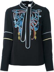 блузка с вышивкой  Peter Pilotto