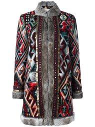 пальто с орнаментом Bazar Deluxe