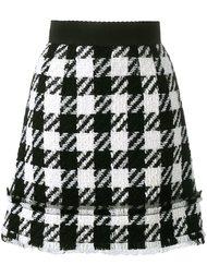 юбка в ломаную клетку  Dolce & Gabbana