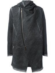 пальто с асимметричной застежкой на молнию Masnada