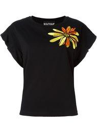 топ с цветочной вышивкой  Boutique Moschino