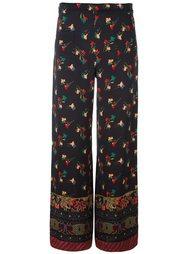 широкие брюки с принтом Etro